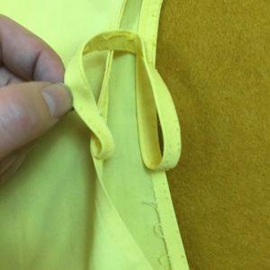 Vintage Dresses - VINTAGE Yellow Shift Dress with Big Pocket